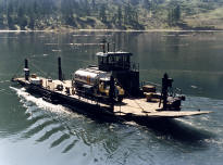 One of AGM's boat designs, the Downie Cable Ferry and Barge